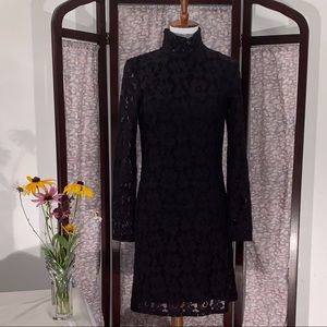 I.N.C. Black lace long sleeve dress.